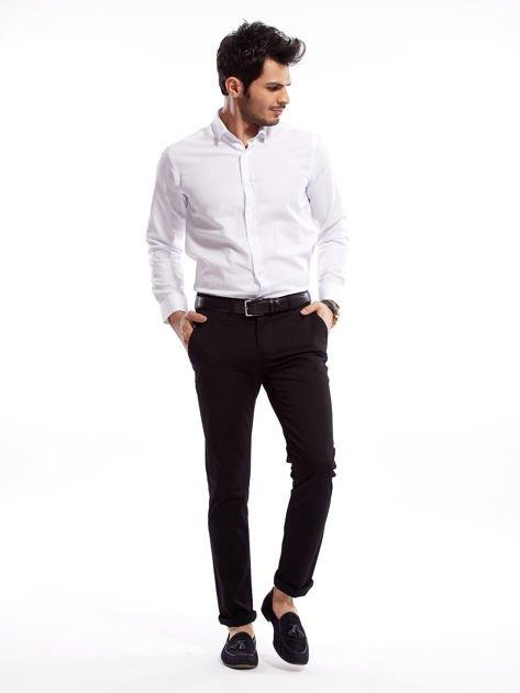 Czarne bawełniane spodnie męskie                               zdj.                              11
