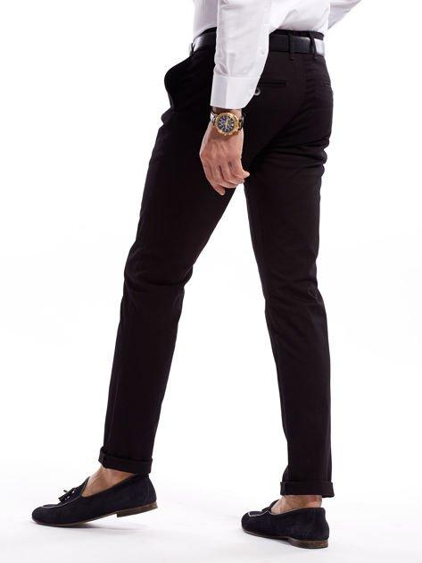 Czarne bawełniane spodnie męskie                               zdj.                              2