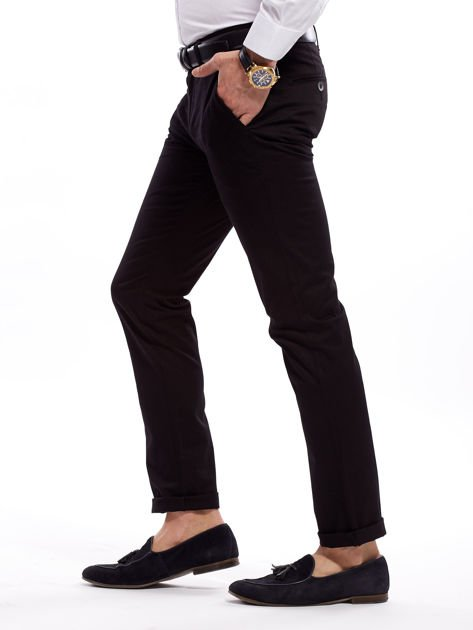 Czarne bawełniane spodnie męskie                               zdj.                              9