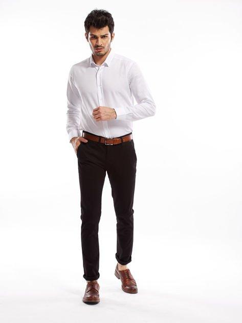 Czarne bawełniane spodnie męskie chinosy                               zdj.                              4