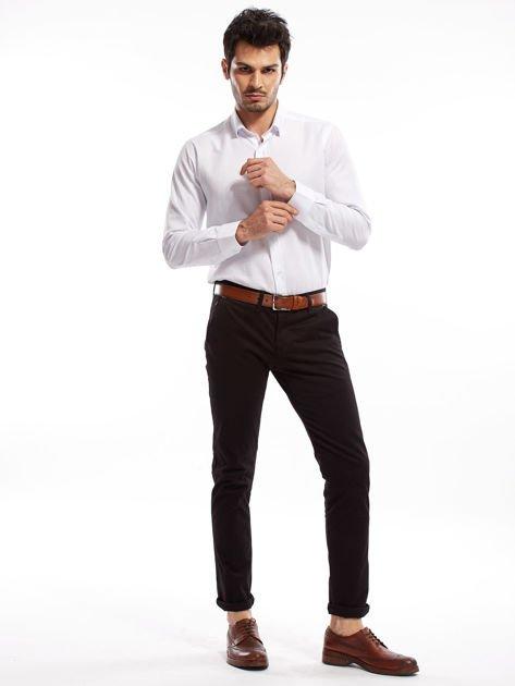 Czarne bawełniane spodnie męskie chinosy                               zdj.                              8