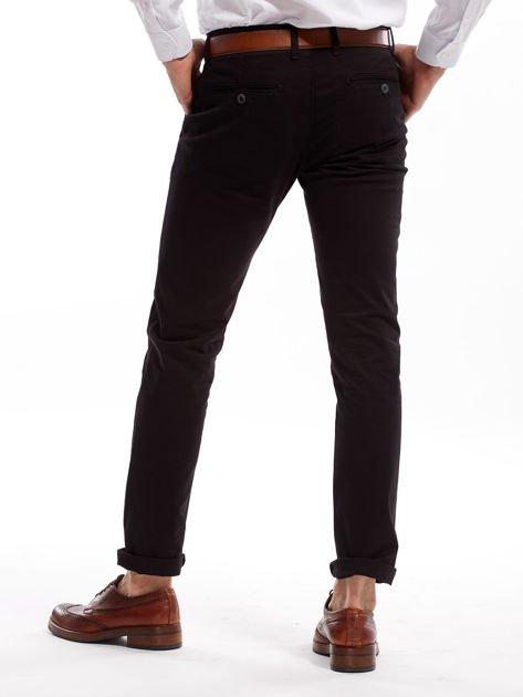 Czarne bawełniane spodnie męskie chinosy                               zdj.                              2