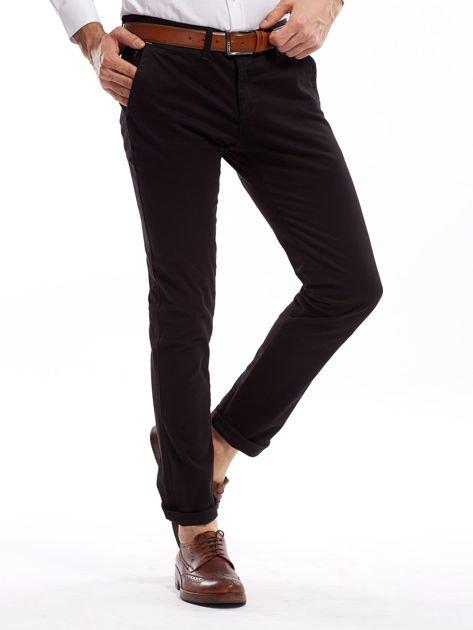 Czarne bawełniane spodnie męskie chinosy                               zdj.                              11