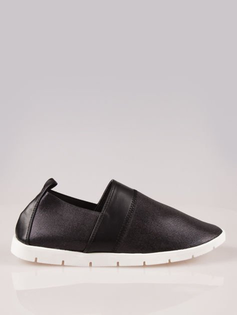 Czarne buty slippers Dakota na traktorowej podeszwie                                  zdj.                                  1