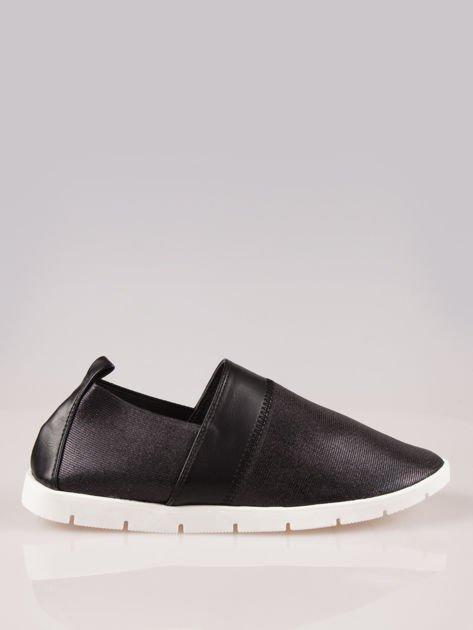 Czarne buty slippers na traktorowej podeszwie