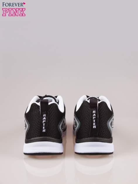 Czarne buty sportowe damskie z elastyczną podeszwą                                  zdj.                                  3