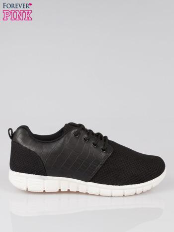 Czarne buty sportowe dual Lead Up z wężową wstawką                                  zdj.                                  1