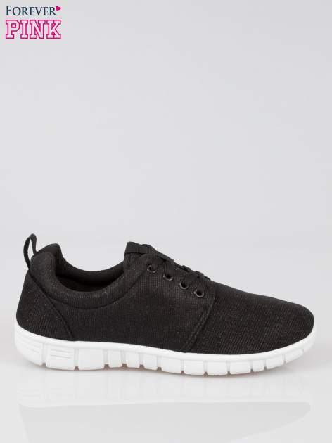 Czarne buty sportowe textile Diamonds z metaliczną nitką                                  zdj.                                  1
