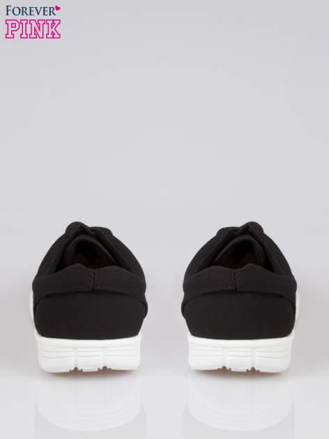 Czarne buty sportowe textile Superior na podeszwie flex                                  zdj.                                  3