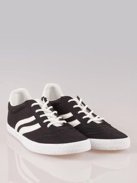 Czarne buty sportowe w stylu casual Kash                                  zdj.                                  2