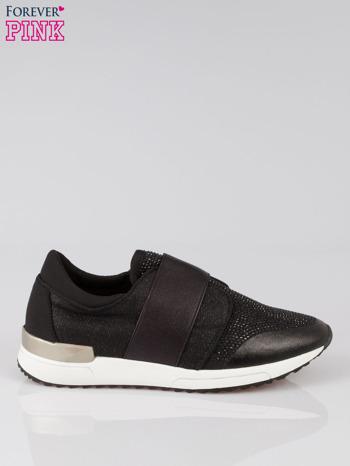 Czarne buty sportowe z dżetami