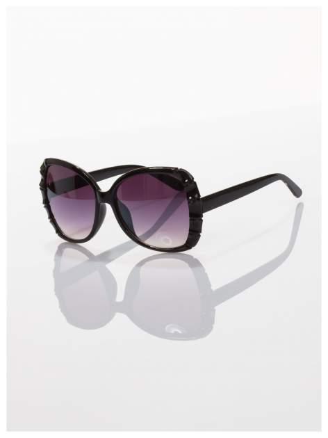 Czarne duże okulary dla kobiet klasyczna oprawka z filtrami UV                                  zdj.                                  1