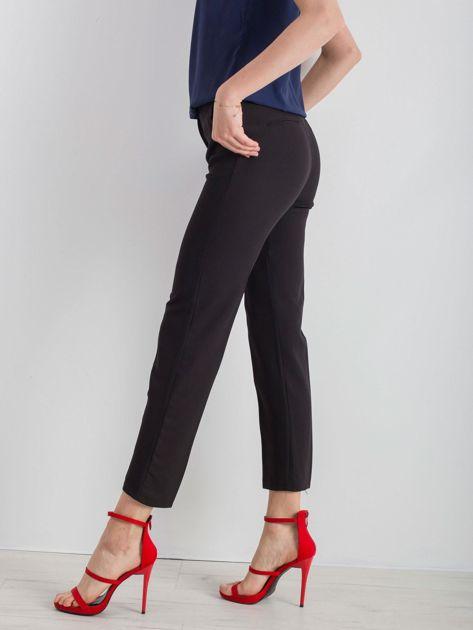 Czarne eleganckie damskie spodnie                              zdj.                              3