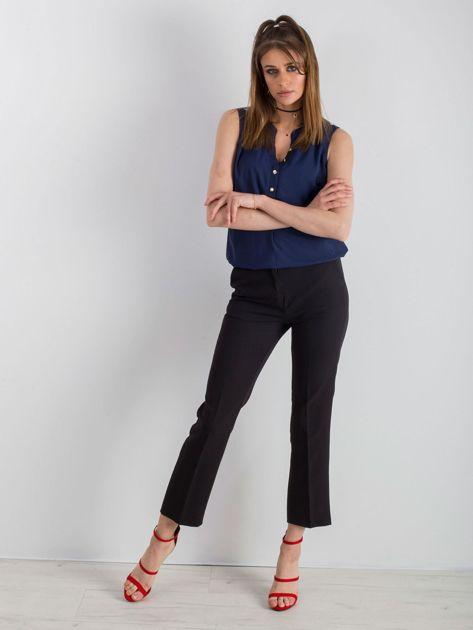 Czarne eleganckie damskie spodnie                              zdj.                              4