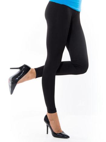 Czarne gładkie legginsy                                   zdj.                                  1