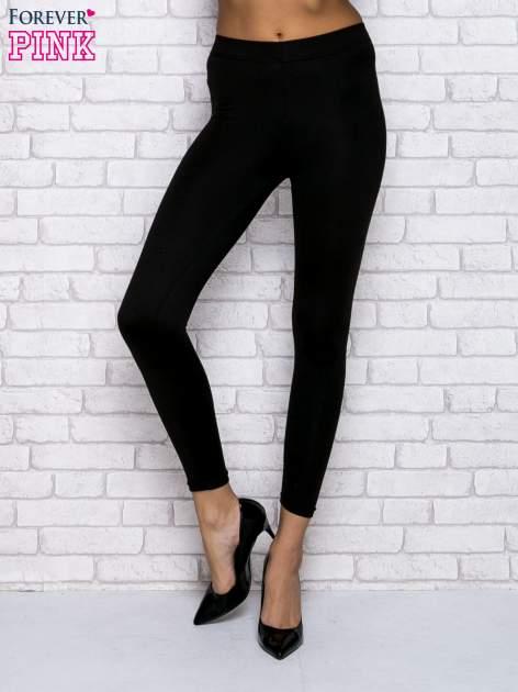 Czarne klasyczne  legginsy