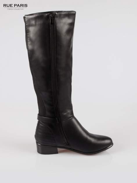 Czarne kozaki z klamerką w stylu biker boots                                  zdj.                                  4