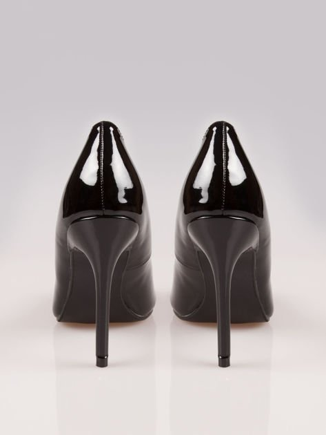 Czarne lakierowane szpilki peep toe Kelly                                  zdj.                                  3