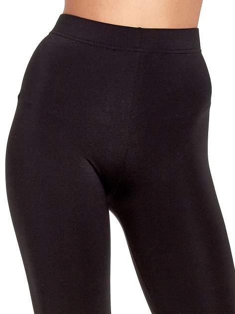 Czarne legginsy basic z lekkim ociepleniem                                  zdj.                                  5