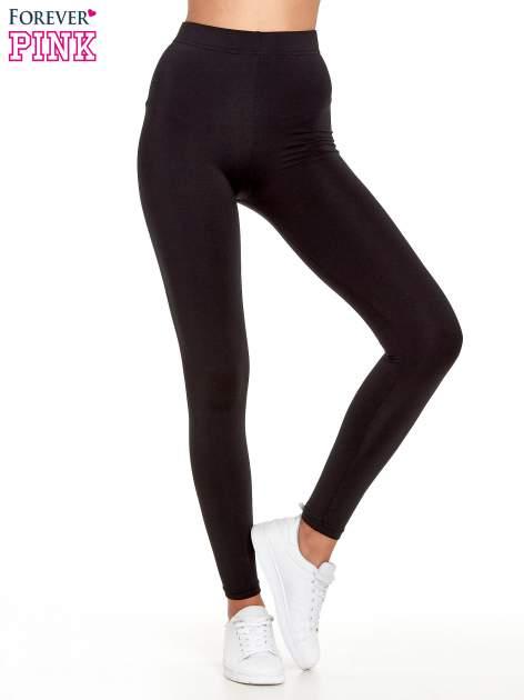 Czarne legginsy basic z lekkim ociepleniem
