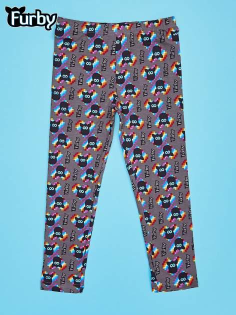 Czarne legginsy dla dziewczynki z nadrukiem FURBY