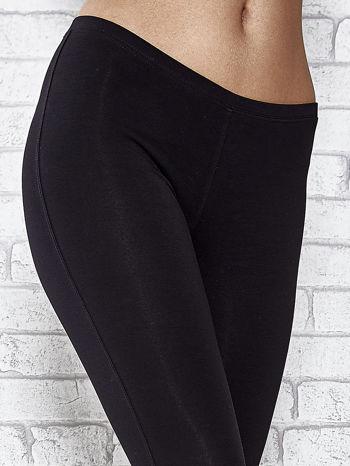 Czarne legginsy sportowe z patką z dżetów na dole                                  zdj.                                  6