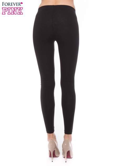 Czarne legginsy z bawełny                                  zdj.                                  2