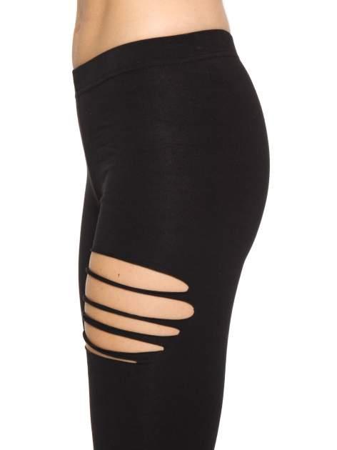 Czarne legginsy z dziurami                                  zdj.                                  5