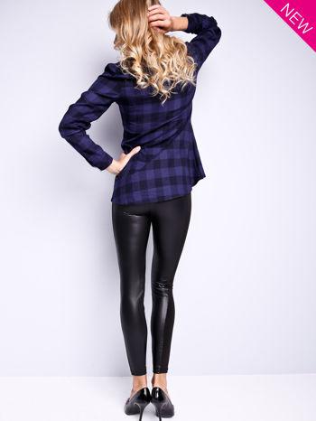 Czarne legginsy z łączonych materiałów                                  zdj.                                  4