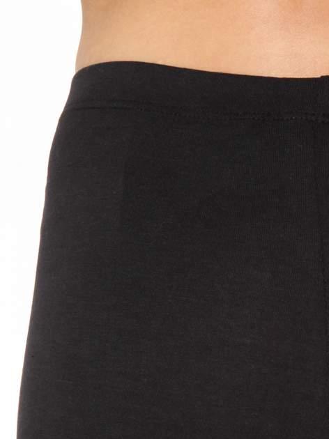 Czarne legginsy z panelami z artystycznym nadrukiem                                  zdj.                                  6