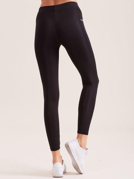 Czarne legginsy z szeroką gumką w pasie                               zdj.                              2
