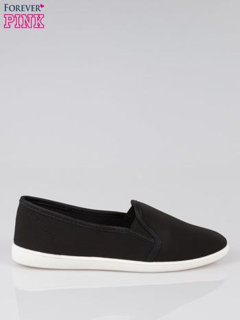 Czarne lekkie buty sliponki