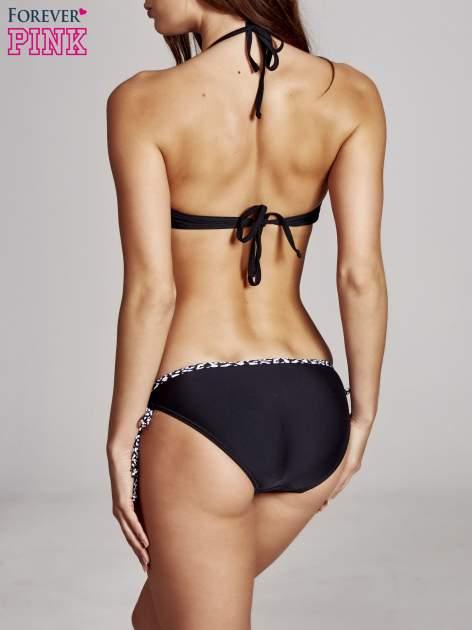 Czarne majtki kąpielowe z motywem pantery                              zdj.                              3