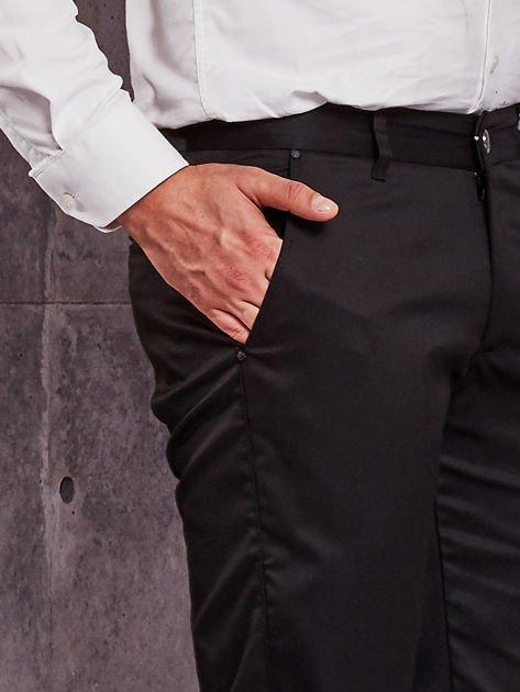 Czarne materiałowe spodnie męskie z kieszeniami                                  zdj.                                  6