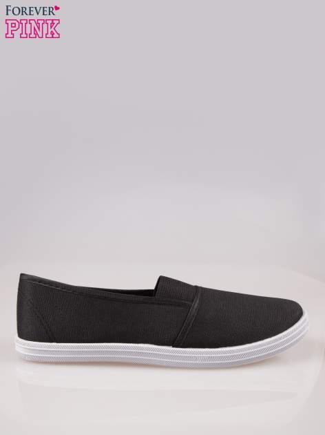 Czarne miękkie buty slip on