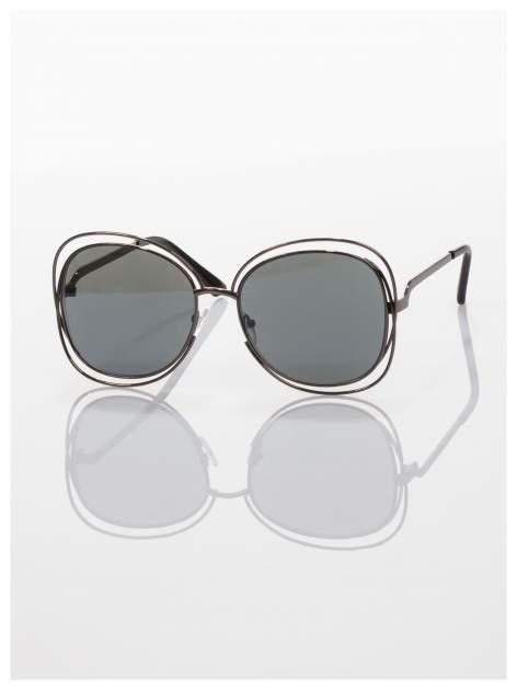 Czarne okulary FASHION wyjątkowe stylizowane na Chloe                                  zdj.                                  2