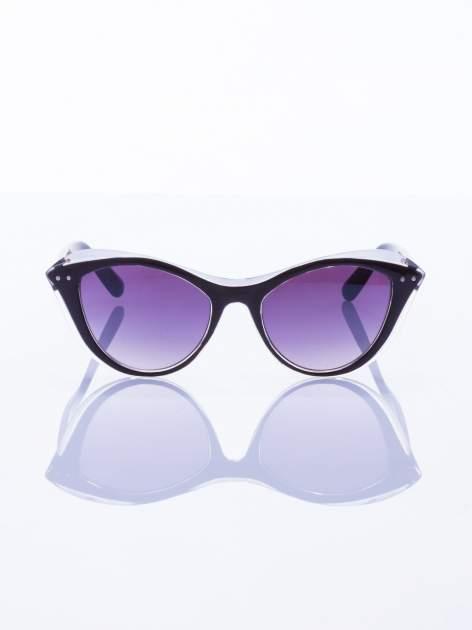 """Czarne okulary przeciwsłoneczne w stylu """"KOCIE OCZY""""                                   zdj.                                  1"""