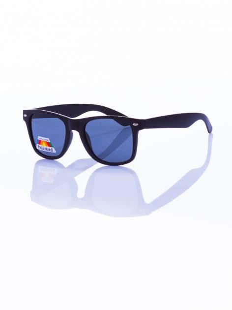 Czarne okulary przeciwsłoneczne z POLARYZACJĄ typu WAYFARER                                  zdj.                                  1