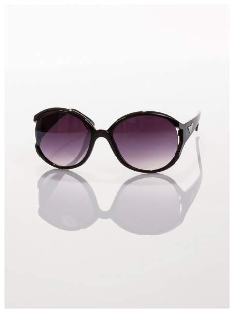 Czarne owalne okulary przeciwsłoneczne                                   zdj.                                  2