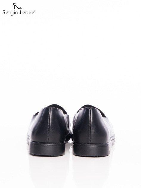 Czarne półbuty Sergio Leone na lekkim podwyższeniu                                  zdj.                                  3