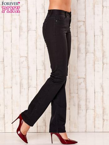 Czarne proste spodnie z napami                                  zdj.                                  3