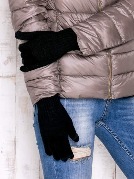 Czarne rękawiczki do obsługi ekranów dotykowych                                  zdj.                                  3