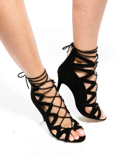 Czarne sandały gladiatorki                                  zdj.                                  1