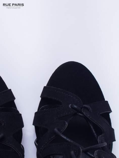 Czarne sandały gladiatorki                                  zdj.                                  6