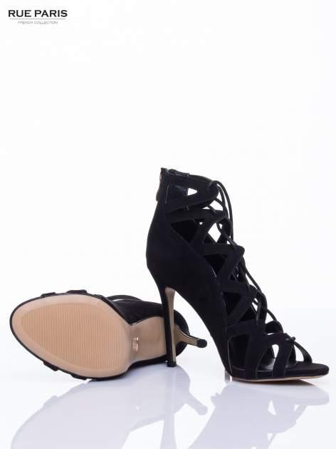 Czarne sandały gladiatorki                                  zdj.                                  5