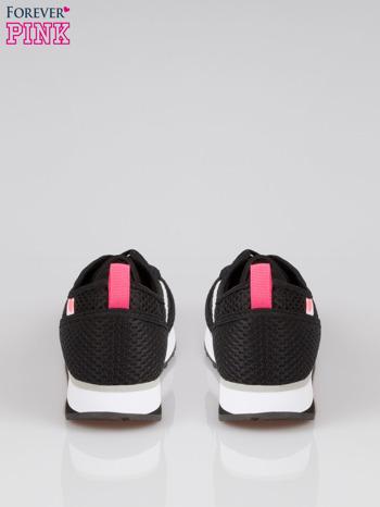 Czarne siateczkowe buty sportowe textile High Level na platformie                                  zdj.                                  3