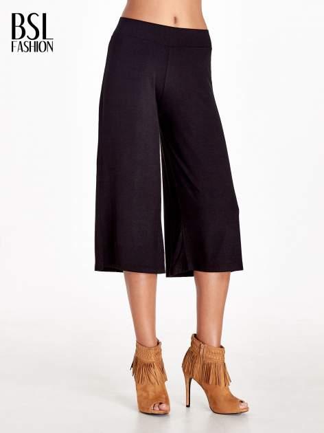 Czarne spódnicospodnie typu culottes                                  zdj.                                  1