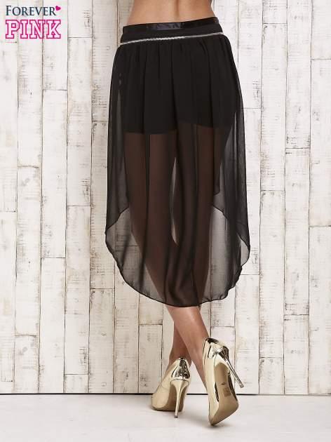 Czarne spódnicospodnie z tiulowym trenem                                  zdj.                                  4