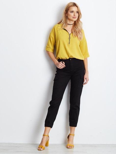 Czarne spodnie Carbonee                              zdj.                              4
