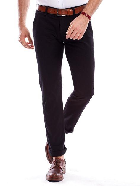 Czarne spodnie męskie regular                               zdj.                              6